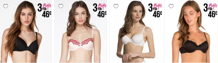 Bra Party   3 BHs für 46€ + versandkostenfrei