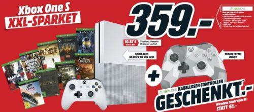 Letzter Tag! Media Markt Oster Angebote mit gratis Geschenken   z.B. Xbox One S + 9 Spiele + 2. Controller nur 359€