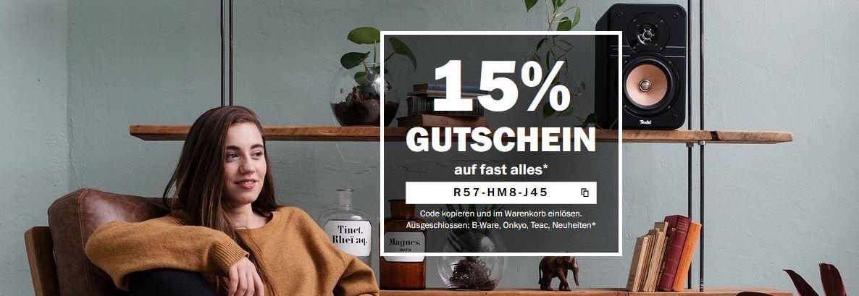 Teufel Online Shop mit 15% Rabatt auf Alles    z.B. Teufel Cinebar 11 für 349,99€