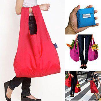 Wiederverwendbare & faltbare Einkaufstasche in 8 Farben für je 1,28€