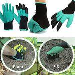 1 Paar Handschuhe mit Grabspitzen (Krallen) für die Gartenarbeit für 1,99€