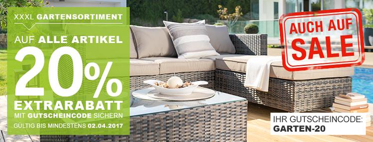 XXXL Shop   20% Rabatt auf Gartensortiment & Grills bis Mitternacht