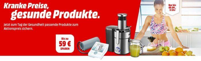 Media Markt Aktion: Gesunde Produkte   günstige Wellnes, Gesundheitsgeräte wie Entsafter, Waagen, Activity Tracker