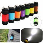 USB-LED-Taschenlampe in vielen Farben als Schlüsselanhänger mit Akku für 1€
