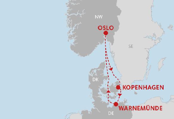 AIDAmar: 4 ÜN Kurzkreuzfahrt nach Skandinavien inkl. Vollpension ab 449€ p.P