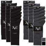 15er Pack Versace 1969 Socken in Schwarz oder Anthrazit für 21,59€