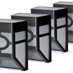 Solarzauber 4er-Set Solar-Zaunlichter für 19,99€