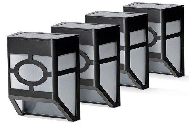 Solarzauber 4er Set Solar Zaunlichter für 19,99€