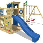 WICKEY Smart Camp – Spielhaus mit Kletterturm, Schaukel und Rutsche für 399,46€ (statt 510€)