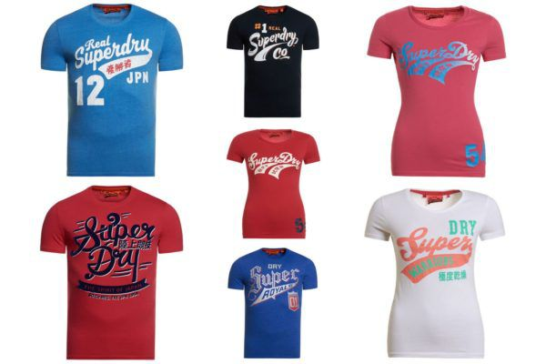 Superdry Damen & Herren T Shirts   verschiedene Modelle verfügbar für je 20,95€