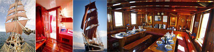 Abenteuer auf dem Segelschiff EYE OF THE WIND   diverse Routen inkl. Vollpension ab 599€ p.P.