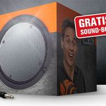 Gratis Sound-Box bei Newsletteranmeldung