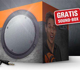 Gratis Sound Box bei Newsletteranmeldung