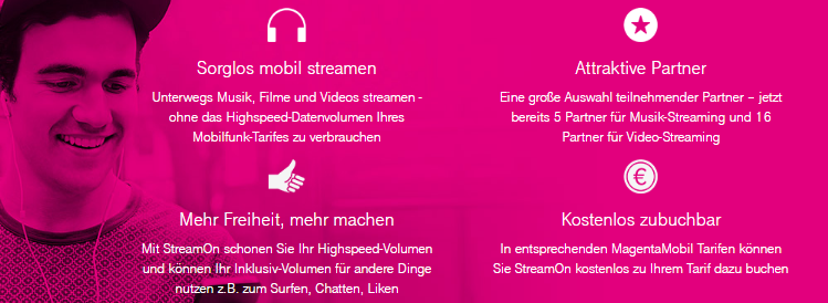 News: Telekom StreamOn   Unbegrenztes Streaming für Telekomkunden