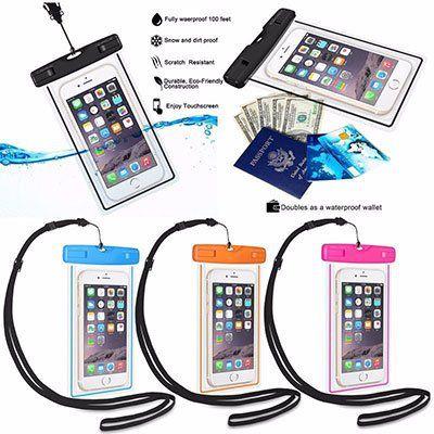 Wasserfeste & transparente Hülle für Smartphones für 0,82€