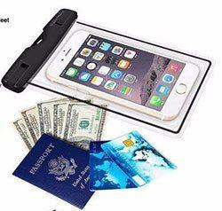 Wasserfeste & transparente Hülle für Smartphones für 1,65€