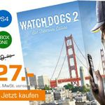 Saturn Weekend Sale: u.a. Watch Dogs 2 (San Francisco Edition)[PS4, XBox one] statt 47€ für je 27€