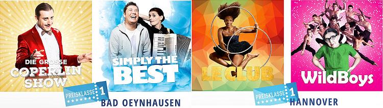 Verschiedene Varieté Shows bei vente privee ab 16€