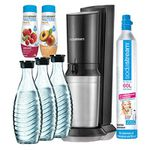 Sodastream Crystal Super Spar Pack mit 60L Zylinder + 3 Karaffen + 2 Sirup für 114,90€