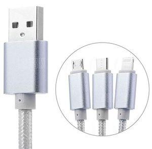 VORBEI! 3 in 1 USB Ladekabel (8 Pin + Micro USB + Type C) für 0,90€