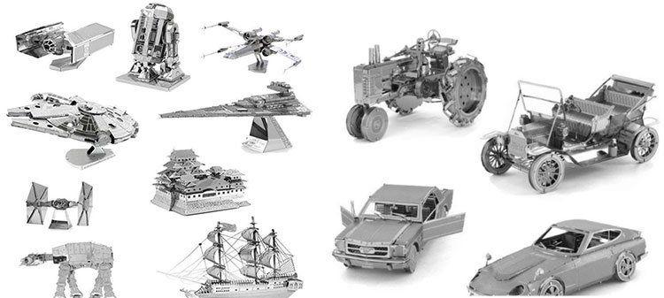 Verschiedene 3D Metall Puzzles Star Wars/Schiffe/Züge/Flugzeuge etc. ab ~3€