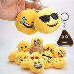 Emojii Plüsch-Schlüsselanhänger mit versch. Motiven für je 1€