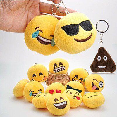 Emojii Plüsch Schlüsselanhänger mit versch. Motiven für je 1€