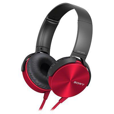 SONY MDR XB450APR Extra Bass Kopfhörer in Rot für 17€ (statt 34€)