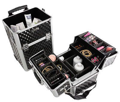 Aluminium Reisetrolley / Reisekoffer / Beautycase 60L mit Rollen für 66,93€ (statt 80€)