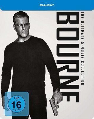 Ausverkauft! Bourne Box (Steelbook)   alle 5 Filme für 28,97€