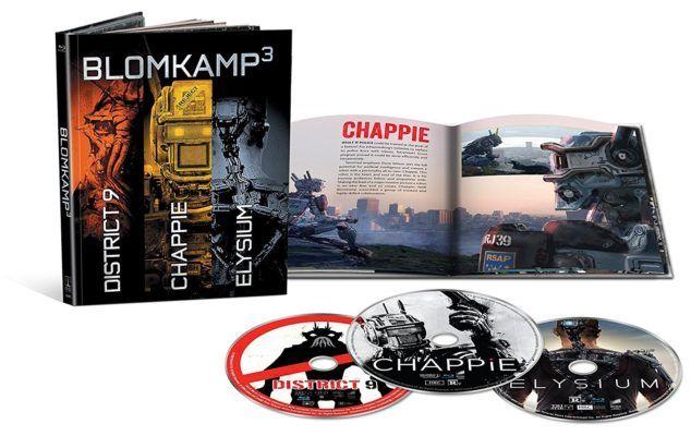 Blomkamp³ Digibook mit 3 Filmen (Blu Ray)   District 9 + Chappie + Elysium für 11,97€