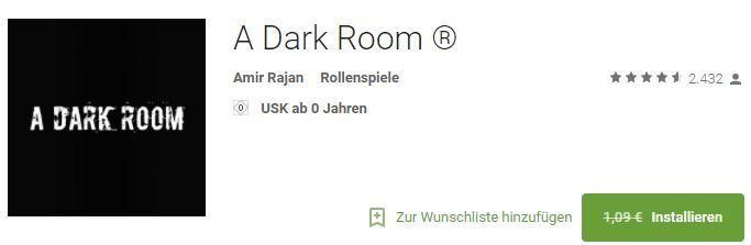 A dark Room (Android) gratis statt 1,09€