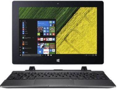 ACER Switch One 10 (SW1 011 11AN)   10 Zoll Convertible mit Win 10, 4GB RAM, 64GB Speicher + Office für 222€