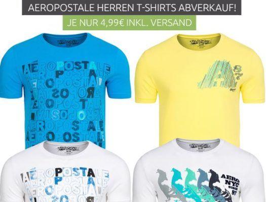 Aeropostale A87  Herren Logo T Shirts Restbestände für je 2,99€