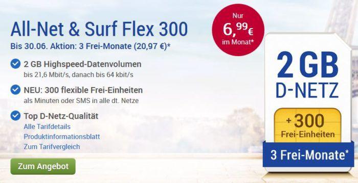 GMX Tarif mit 2GB für 6,99€ mtl.   3GB für 8,99€ oder 4GB für 12,99€ mtl.