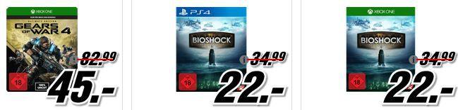 BioShock   The Collection [PlayStation 4 o. XBox one] für 22€ uvam. im Media Markt Dienstag Sale