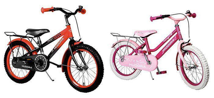 TOP! Hudora Kinderfahrräder (16 Zoll / 5 7 Jahren) für je 87,94€ (statt 124€)