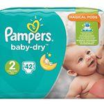 Schnell? 168 Pampers Baby-Dry Windeln Gr. 2,3-6kg für 25,22€ (statt 34€)