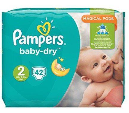 Schnell? 168 Pampers Baby Dry Windeln Gr. 2,3 6kg für 25,22€ (statt 34€)