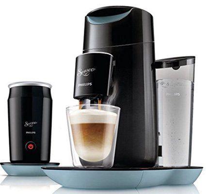 Philips Senseo Twist & Milk HD7874 Kaffeepadmaschine + Milchaufschäumer für 119,99€ (statt 140€)