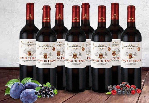 8 Flaschen Domaine de Roubials Latour de France Rotwein für 39€