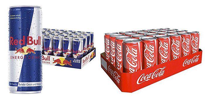 Energy Drinks und Softgetränke bei Amazon   z.B. 24er Pack Red Bull für 20,79€