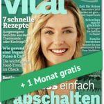"""3 Ausgaben """"vital"""" für 9,75€ + 10€ Gutschein"""