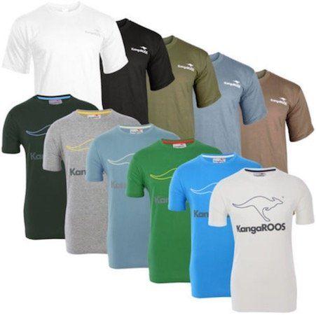KangaROOS T Shirts mit kleinem und großem Logoprint für je 7,99€ (statt 12€)