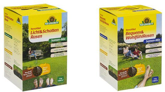 3kg Neudorff TerraVital Rasensamen (4 versch. Sorten) für je 24,99€ (statt 35€)
