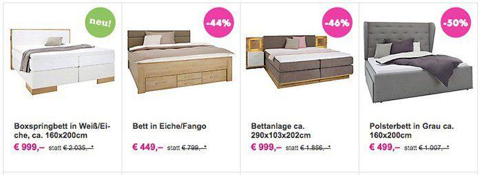 20% Rabatt auf Schlafzimmer, Matratzen & Boxspringbetten bei Mömax