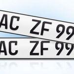 Wieder da! 2er Set EU KFZ Nummernschilder für nur 9,84€ – für die offizielle Zulassung!