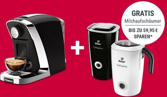 Schnell? Philips Saeco Cafissimo Tuttocaffè + Induktions Milchaufschäumer für 89,10€ (statt 125€) + gratis Kapsel Probierset