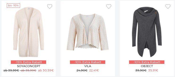 About You Strick Sale mit bis zu  30% + weitere 10% + VSK frei
