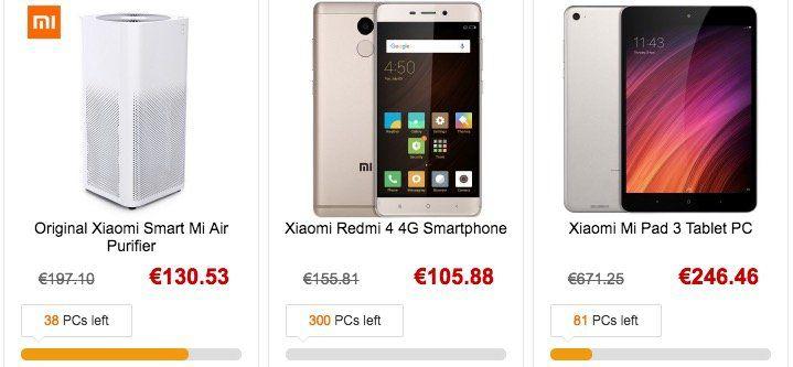 Gearbest Brand Sale   heute mit Xiaomi Produkten